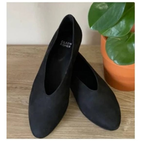 Eileen Fisher Shoes - Eileen Fisher Canoe Flat Suede Shoes Size 8.5